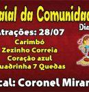 Convite do 1º Arraial da Comunidade Santa Ana e São Joaquim